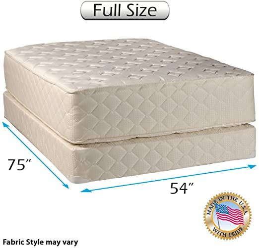 Highlight Luxury Firm Full Size 54 Quot X75 Quot X14 Quot Mattress Amp Box Spring Set Fully Assembled Mattress Box Springs Queen Mattress Set Spring Set
