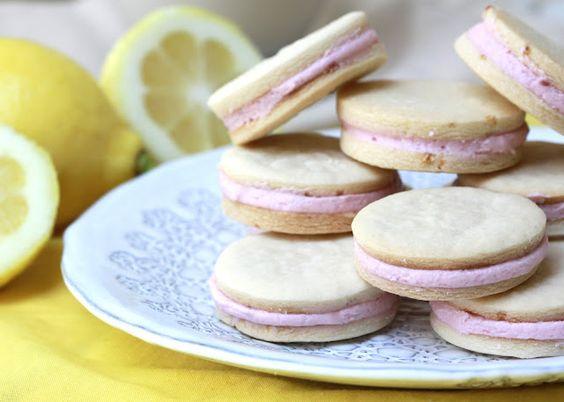 raspberry cream filled lemon cookies | forgiving martha