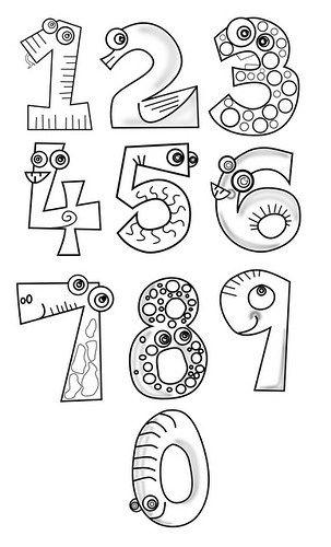 Dibujos De Numeros Para Imprimir Y Colorear Imagenes De Numeros