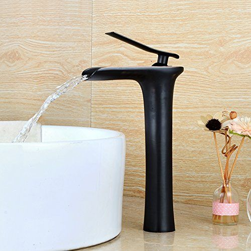 Wovier Oil Rubbed Bronze Waterfall Bathroom Sink Faucet Single