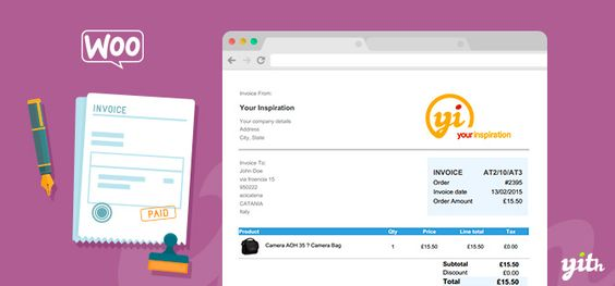 Download YITH WooCommerce PDF Invoice and Shipping List Premium v1 - pdf invoices