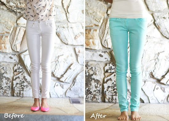 Welcome to the gOOd life: DIY: dye your own mint jeans