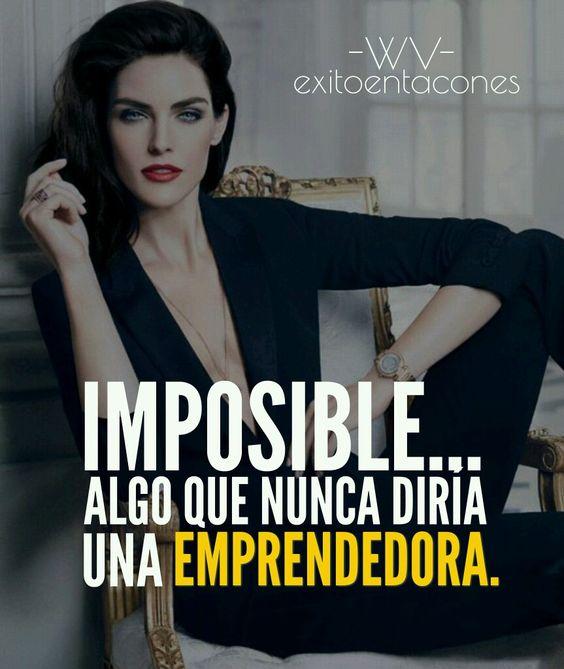 Recuerda que lo IMPOSIBLE es aquello que simplemente no INTENTAS!!!  -WV-  Síguenos por Instagram @exitoentaconeswv   #exitoentacones #frase #motivacion #dequeestashecha #exito #mujerimparable #liderazgofemenino #metas #enfoque #vision #emprende #sinlimites #progreso #pasoapaso #lifestyle #mujerentrepreneur #Imparable #networker #lifestyle #luxury #millionaries #billionaries #boss