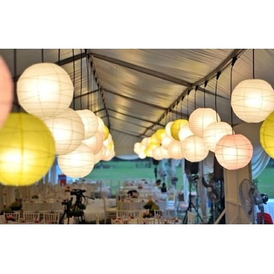 Get arty and crafty by using paper lanterns to fill a room. Photo credit: Chanta Weddings, Malaysia
