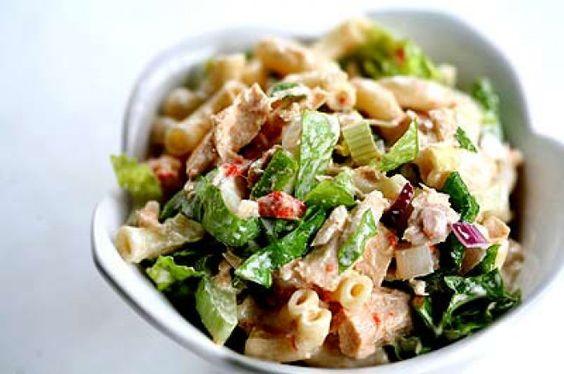 Fish salad with pasta