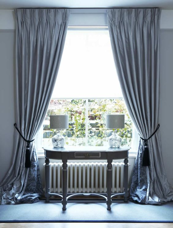 Interlined Twin Pinch Pleat Silk Curtains On Lath Fascia Window Dressings Pinterest