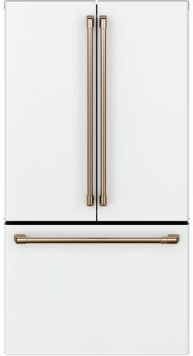 Cafe Cwe23sp4mw2 36 Inch Smart Counter Depth French Door Refrigerator With 23 1 Cu Ft Capacity Wi Fi Internal Water Ice Dispenser Twinchill Evaporators T Counter Depth French Door Refrigerator French Door Refrigerator Counter