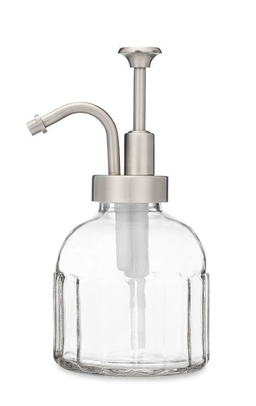 The Inkwell Glass Soap Dispenser Is A French Farmhouse Vintage Style Soap And Lotion Dispenser That Will Add Elegance And Charm To Your Bathroom Frascos Banos