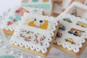 Galletas decoradas con wafer paper