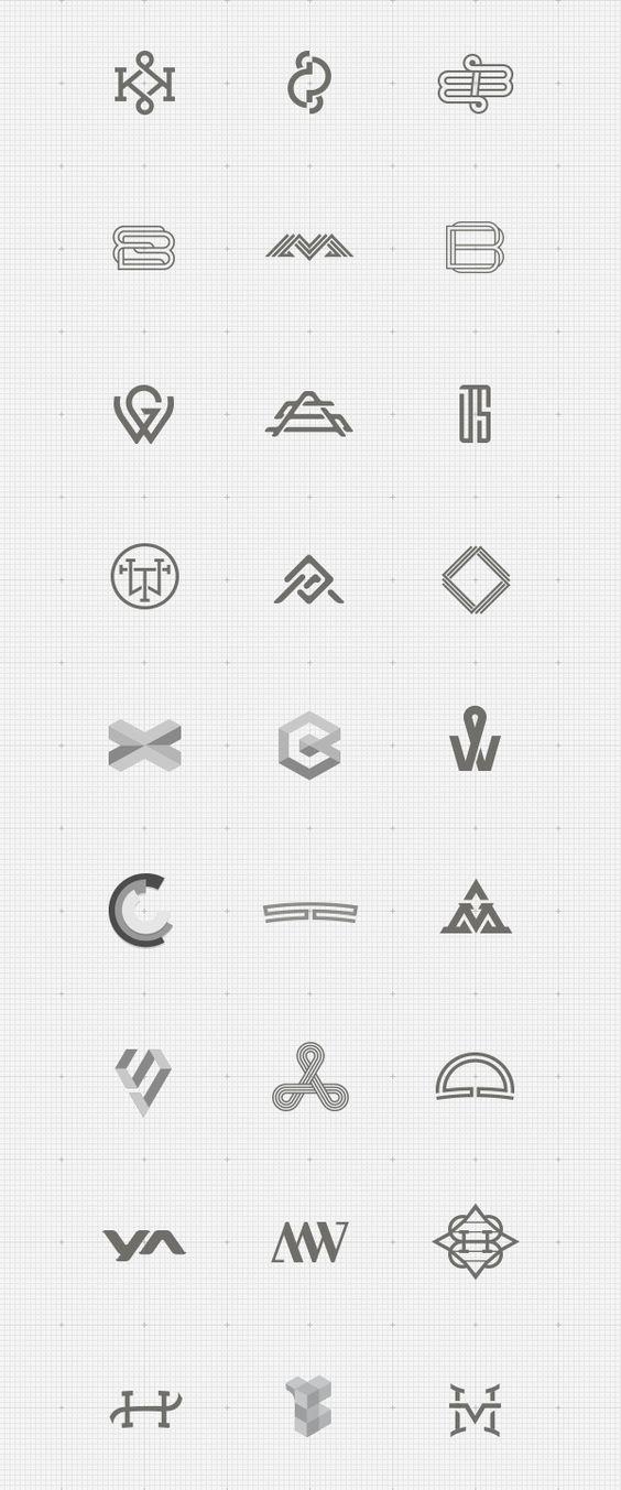 Monograms and Logotypes by Freelance Graphic Designer Jonas Söder