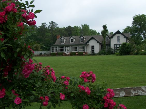 A view of the Rice House from the meadow