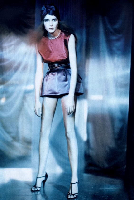 """Pictorial Clicks"" with Snejana Onopka photographed by Paolo Roversi for Vogue Italia, 2007"