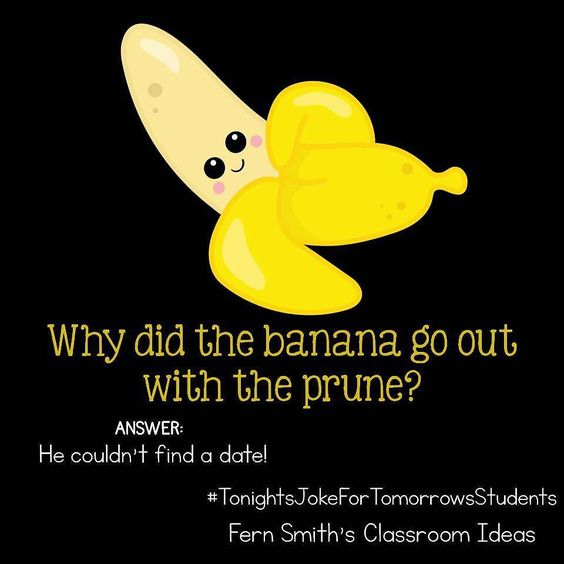 Why did the banana go out with the prune?