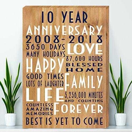 Tin Anniversary Gift Canvas Wife Anniversary Gift Pare Https Www Amazon Com Dp B0 Anniversary Gifts For Parents Anniversary Gifts Tin Anniversary Gifts