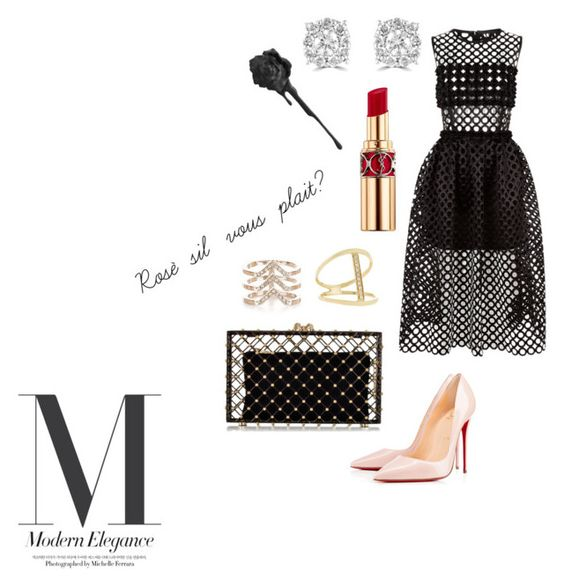 """""""Dita """" by nimotalai on Polyvore featuring Paskal, Christian Louboutin, Charlotte Olympia, Effy Jewelry, New Look, Sydney Evan and Yves Saint Laurent"""