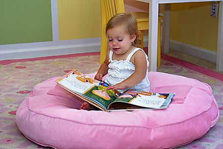 FLAT round floor cushion for kids (yes... it does look just like a dog bed) Pinterest Kid ...