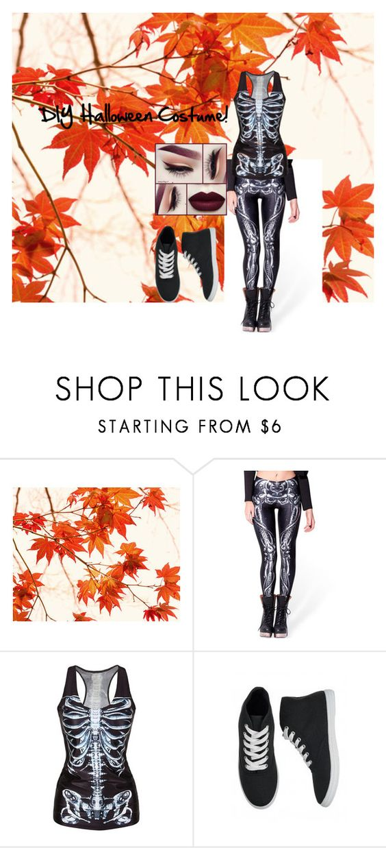 """DIY Halloween Costume!"" by lanadelbaeee ❤ liked on Polyvore featuring WALL, WithChic, Ardene, Halloween, whyamihashtagging, favholiday and xrayleggings"