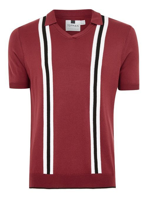 skate shoes online store new product Red Revere Stripe Short Sleeve Knitted Polo   Striped shorts, Mens ...