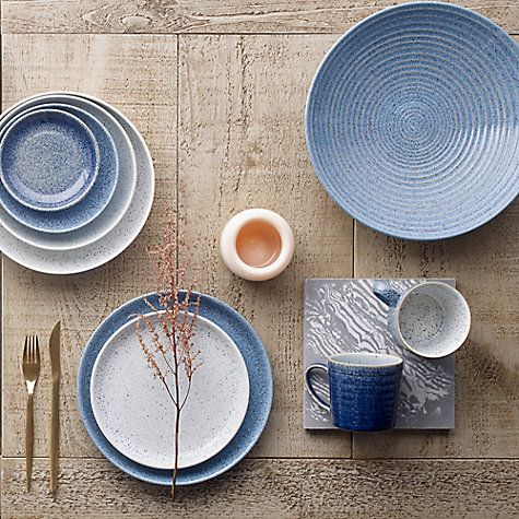 The Beautiful Studio Blue Collection By Denby Pottery Melaniejadedesign Flatlay Tablesetting Table Tablewar Color Of The Year Studio Blue Blue Dinnerware