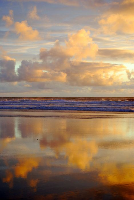 reflection in the wet sand