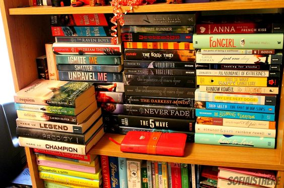 Instead of buying a bookcase, I've been buying more books which has now resulted in my book shelves starting to look like this.