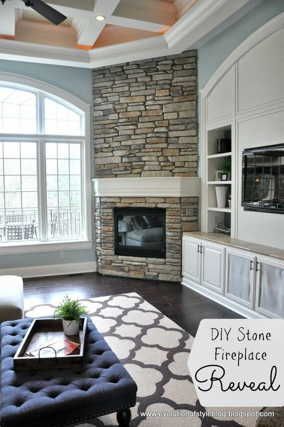 DIY built-in fireplace surround the spot over the fireplace. Description from pinterest.com. I searched for this on bing.com/images