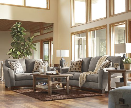 Benchcraft By Ashley Janley Slate Sofa Love Seat Furniture Inexpensive Living Room Beautiful Living Rooms