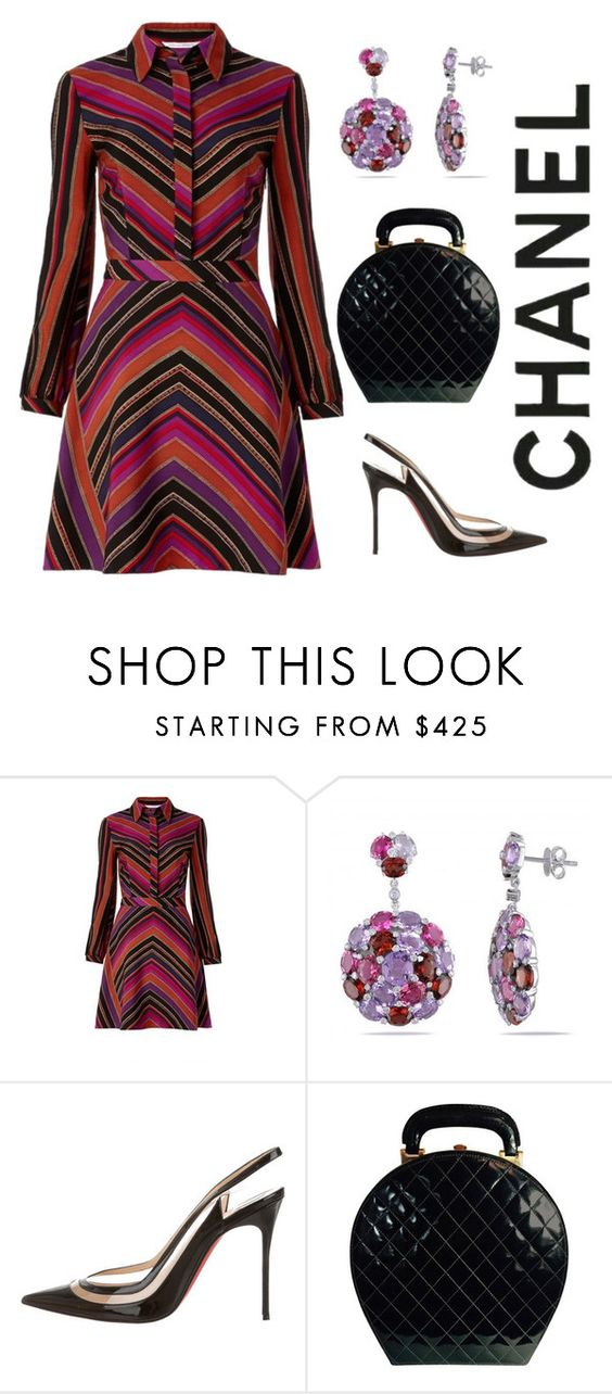 """""""How to Wear Slingbacks"""" by arta13 ❤ liked on Polyvore featuring Diane Von Furstenberg, Allurez, Christian Louboutin and Chanel"""