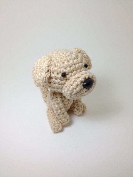 Handmade Amigurumi Dog from Etsy. This shop has the cutest crocheted doggies!