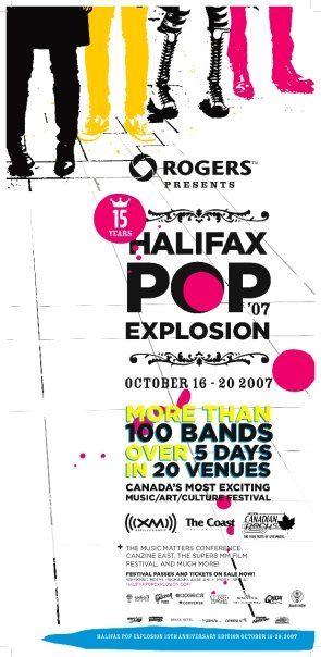 Halifax Pop Explosion 2007 Poster