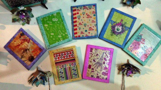 Linea de Cuadernos pequeños, con diseños exclusivos