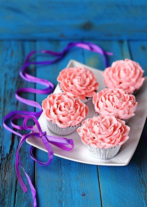 ✿ Flowers Cupcakes ✿