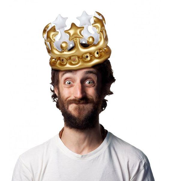 Corona dorada hinchable Rey por 1 día
