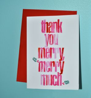 Cute cards! A Merry, Merry Thanks by @Push The Envelope