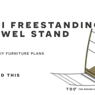 The Design Confidential Free DIY Furniture Plans and How to Build a Mei Freestanding Towel Rack