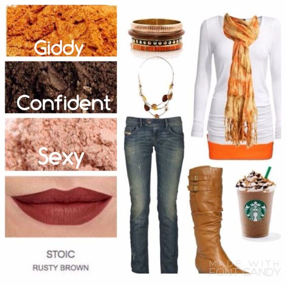 Just take my money!! Perfect fall outfit and makeup colors.