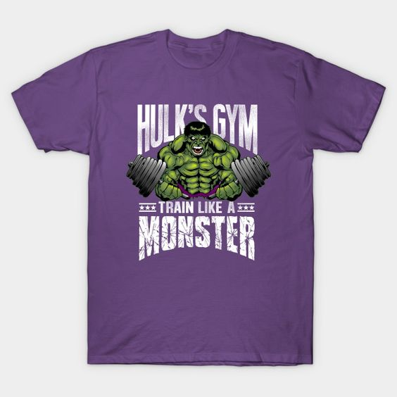 Train Like a Monster - Hulk's Gym T-shirt  #tshirt #fitness #training #weights #hulk