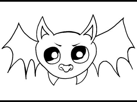 Helloween Bat Drawing How To Draw A Bat How To Draw Bat