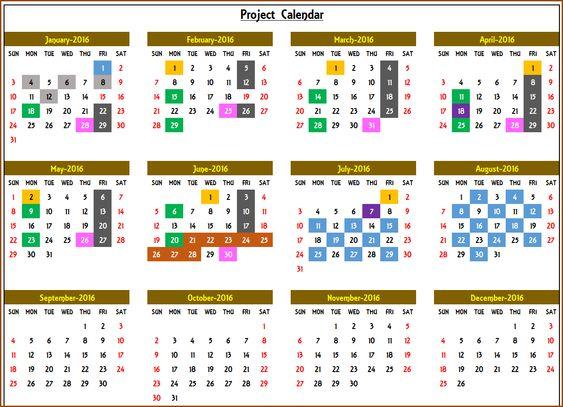 Yearly Calendar  Event Calendar Maker Excel Template  Event