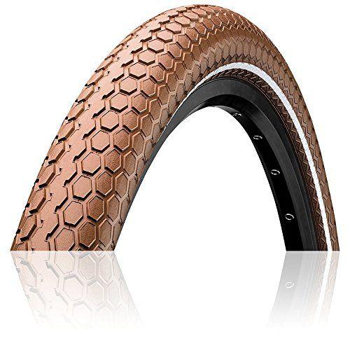 Brown//Cream Sidewalls Beach Cruiser Bike Tire Reflective Deli Tire 26 x 2.35 Folding Bead