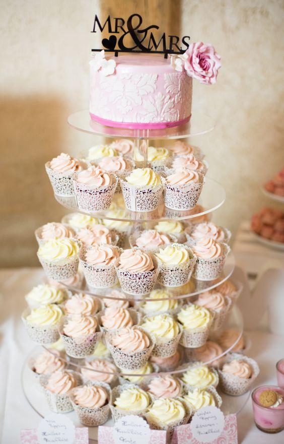 Süße Sweet Table Inspiration in rosa und weiß | Hochzeitsblog - The Little Wedding Corner