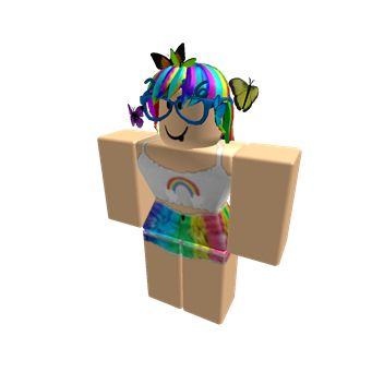 My roblox character | Roblox | Pinterest | Girls and Rainbows