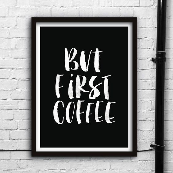 But First Coffee http://www.notonthehighstreet.com/themotivatedtype/product/but-first-coffee-watercolour-typography-giclee-print @notonthehighst #notonthehighstreet