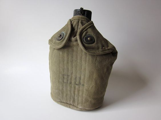 WWII US Military Canteen with Canvas Cover