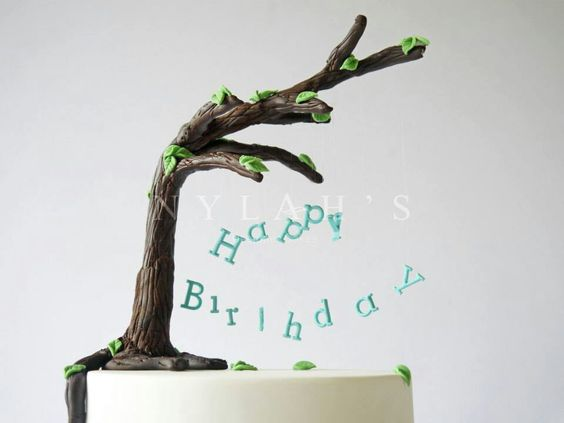 Tree cake decoration