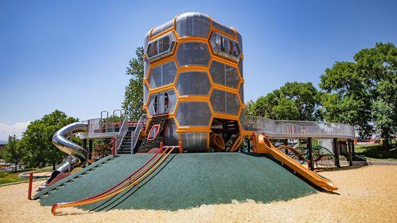 Paco Sanchez Park Denver Co Visit A Playground Landscape Structures Playground Landscaping Playground Structures Landscape Structure