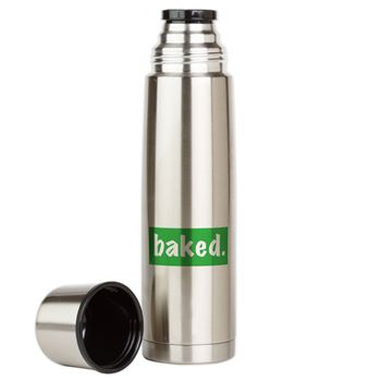 Baked Large Thermos Bottle on BudProducts.US