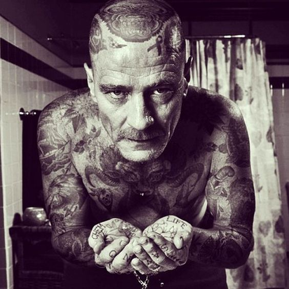 Spock and 13 Other Icons Covered in Tattoos, Because Photoshop | Bryan Cranston as Walter White   via Tumblr   | WIRED.com