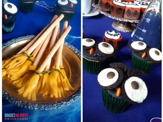 Spooky fun treats at a Halloween party! See more party planning ideas at CatchMyParty.com!