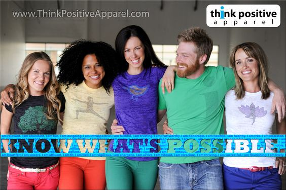 Think Positive Apparel's new designs and photo shoot. Fun bright summer colors!!